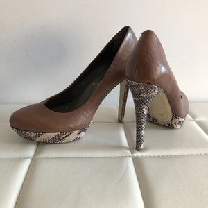 BCBG taupe shoes